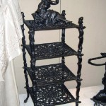 Artful iron shelf