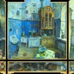 Triptych. Kitchen. Steam punk art by Russian artist Alexey Stroganov