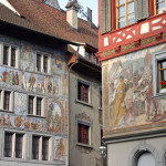 Just a picture gallery or an art museum – painted buildings in Stein am Rhein, Switzerland