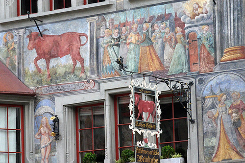Magnificent painted building