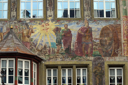 Beautiful painted buildings in Stein am Rhein, Switzerland