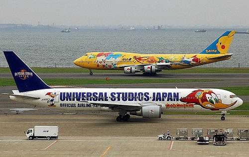 Universal studio Japan. Aircraft graffiti