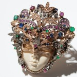 Valuable Venetian mask-brooch from the 1920