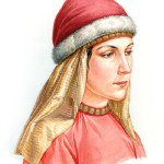 Vyatichi woman in a ribbon and rings headwear, the end of the XI – XII century