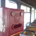 Tram ticket composting machine