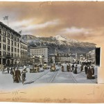 William Henry Jackson (1843-1942); Colorado Springs, Colorado, paste-up ca. 1913; Gelatin silver print and collage with applied watercolor; Amon Carter Museum of American Art, Fort Worth, Texas