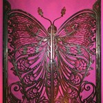 art nouveau butterfly door