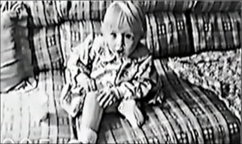 baby Jessica learns how to put her limbs on, black and white