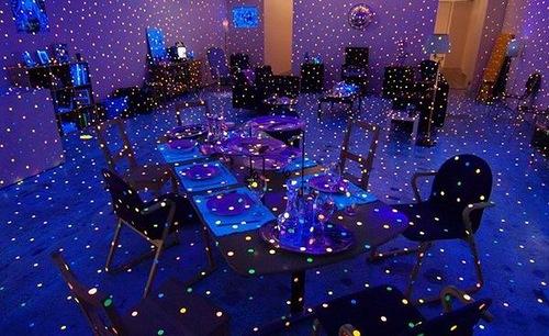 Blue art installation