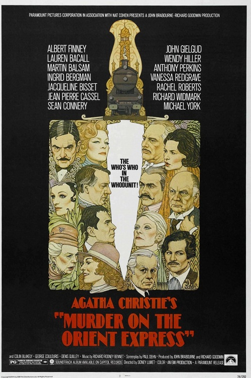 Film poster. Murder on the orient express