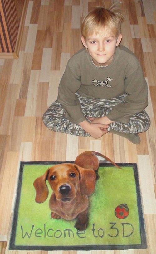 Son and dog by Nikolaj Arndt