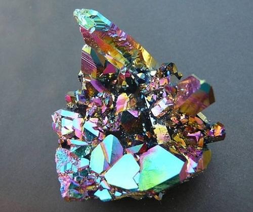 Titanium quartz crystals