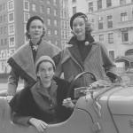 """Vintage models of 1950s. Sophie Litvak (Malgat), Annemarie Margot """"Sunny"""" Harnett. 1951. Photographer Nina Leen"""