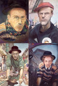 Series of 3D self-portraits created by English freelance artist Julian Beever