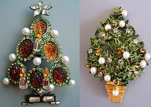 Swarovski Christmas tree pins