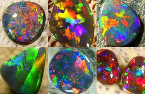 Opal rainbow in your hands