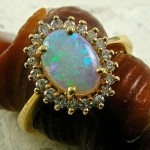 Colorful Opal rainbow in your hands