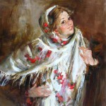 Shawl in painting