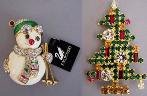 Christmas inspired Brooches & Pins