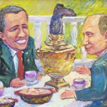 Naive art by Vladimir Usatov