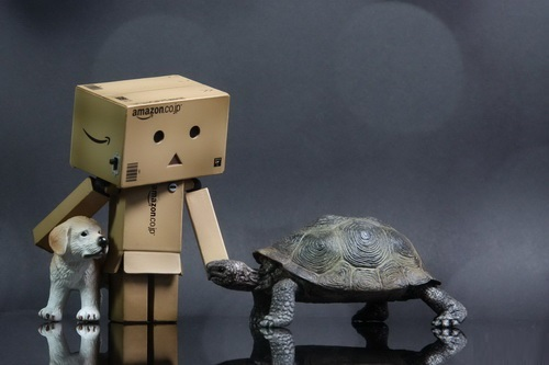 Charismatic cardboard man Danbo photography by Anton Tang