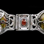 Guild of Handicraft Silver, enamel & garnet