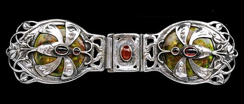 Guild of Handicraft Silver, enamel & garnet