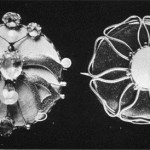 Two Brooches designed by C. R. Ashbee and manufactured by the Guild of Handicraft. c. 1899. The Studio