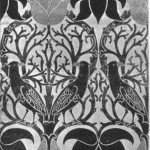 Printed Fabric. Designer C. R. Ashbee. Manufacturer - The Guild of Handicraft, 1899