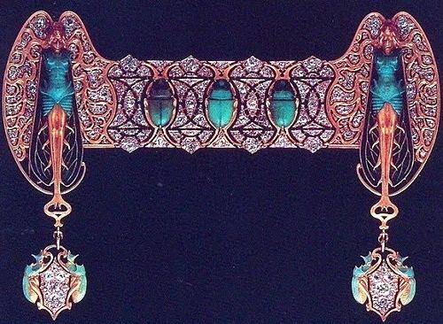 Gold, enamel, brilliants; 1897-1899
