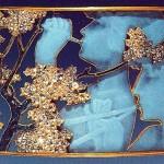 Beautiful jewelry by Rene Jules Lalique. Gold, enamel, diamonds; 1898-1900