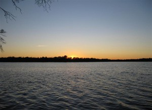 Waters in sunset. The Great Vasyugan Mire