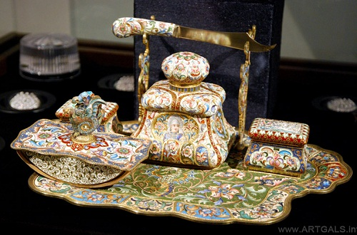 Faberge jewelry desk set