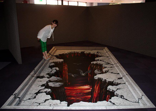 3d pavement painting in Okinawa, Japan