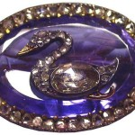 Brooch with swan. Gold, silver, diamonds, sapphire. Faberge firm, Studio of Holmstrem. Russia, St. Petersburg, 1899-1903