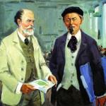 "Artist Perevyshko A.I. ""Faberge and F. Bierbaum"""