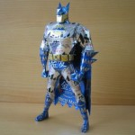 Super hero sculpture made from Aluminium can by Japanese artist Macaon