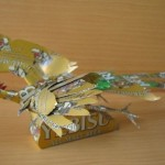 Firebird. Aluminium can sculpture by Japanese artist Macaon