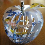 Apple. Aluminium can sculpture by Japanese artist Macaon