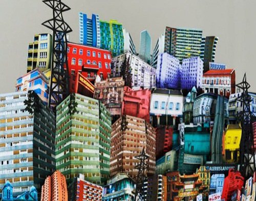 Creativity of architects, paper exhibition in Paris