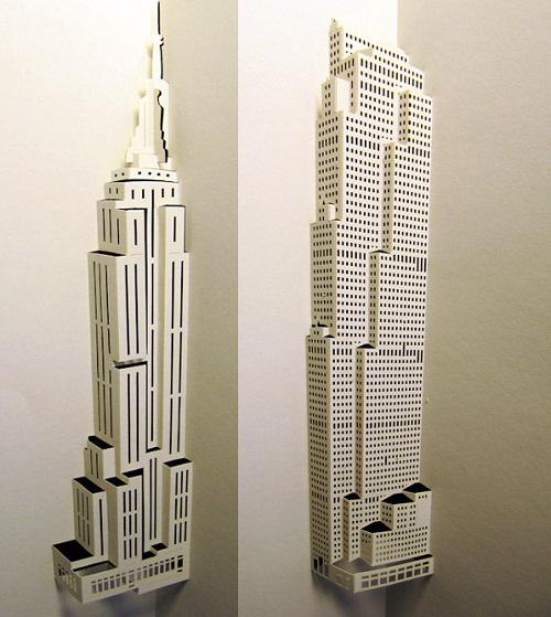 Skyscrapers of paper