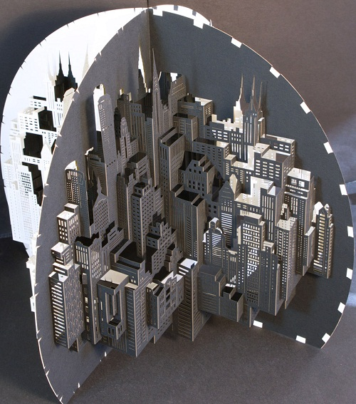 Impressive layout of modern architecture