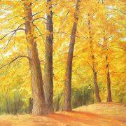 Autumn trees. 2008. Oil on canvas