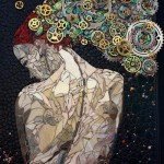Fantasy. Beautiful mosaic by American artist Laura Harris