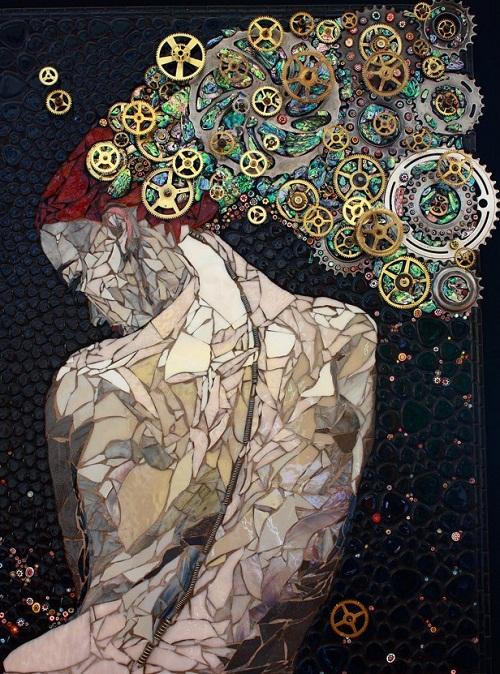Fantasy. Beautiful mosaic by American artist Laura Harris