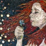 Dandelion. Beautiful mosaic by American artist Laura Harris
