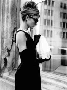 Black gloves and dress, Audrey