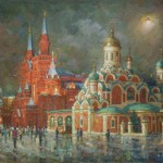 Nikolskaya street. Colors of evening. 2011
