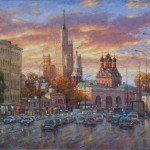 Sky fire (Taganskaya square, Moscow). 2011. Oil on canvas
