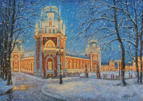 Tsaritsino. Winter tale. 2010. Oil on canvas